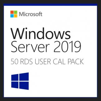 50 RDS User CAL for Windows Server 2019